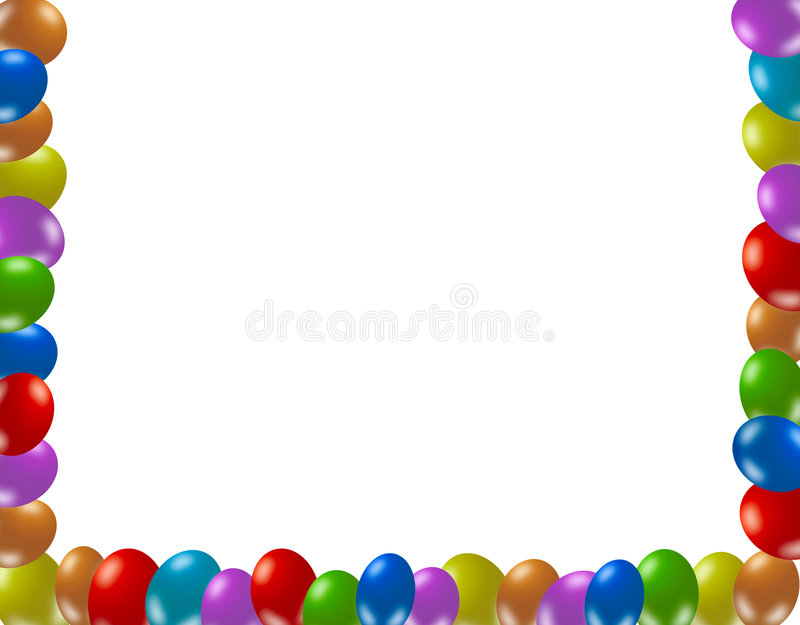 Frame of colorful balloons vector illustration