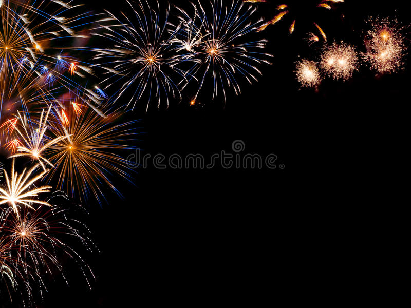 Download Frame From Colorful Fireworks Stock Image - Image of background, merry: 26534453