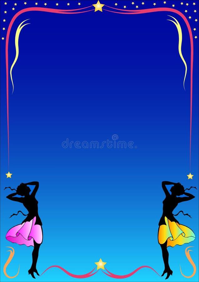Frame colorido com mulheres ilustração royalty free