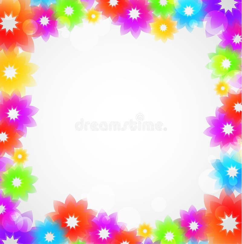 Frame colorido da flor ilustração stock