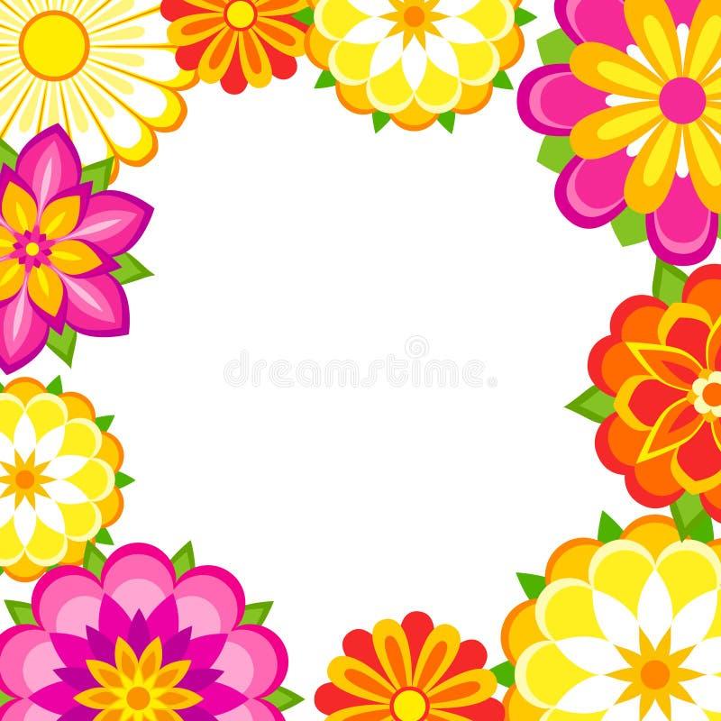 Frame colorido das flores ilustração royalty free