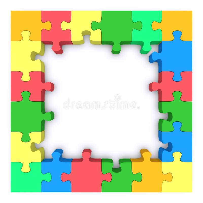 Frame colorido do enigma. ilustração do vetor