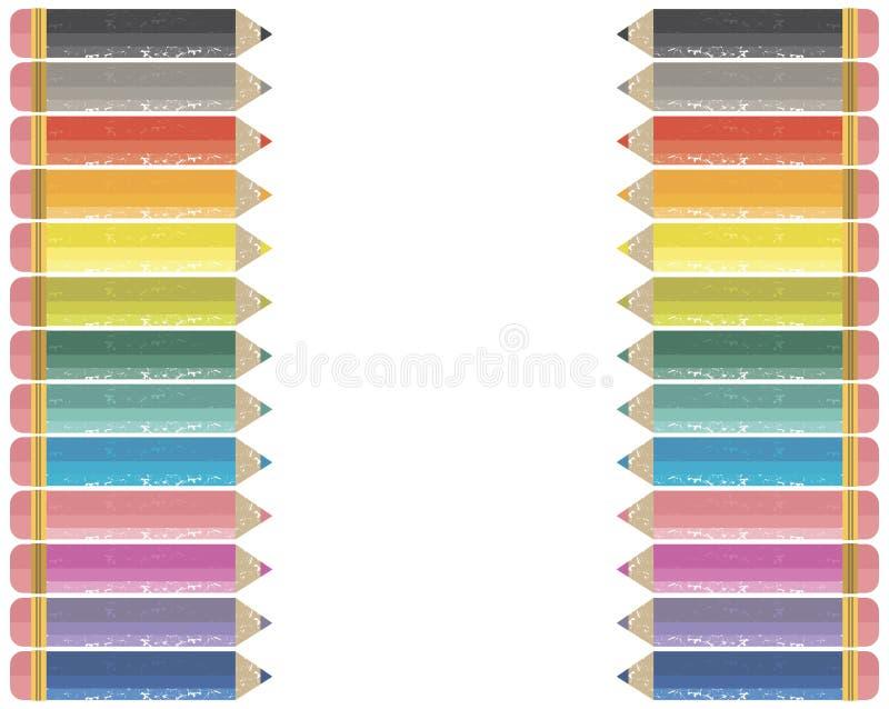 Frame colorido do lápis ilustração royalty free