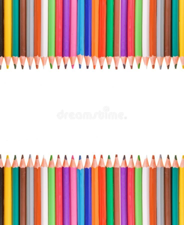 Frame colorido dos lápis imagem de stock