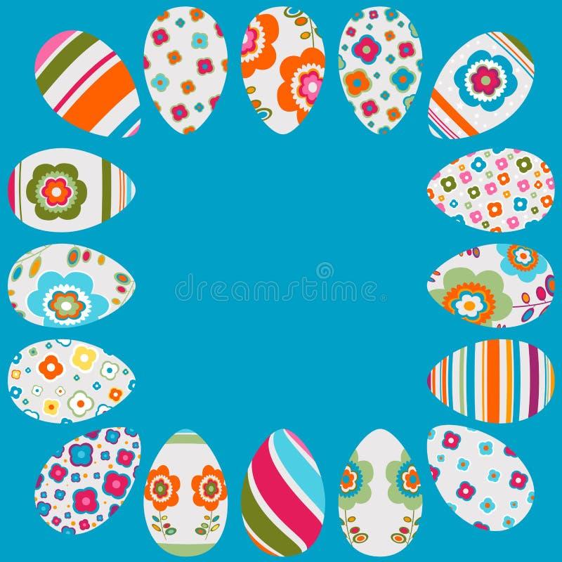 Frame colorido dos ovos de Easter ilustração royalty free