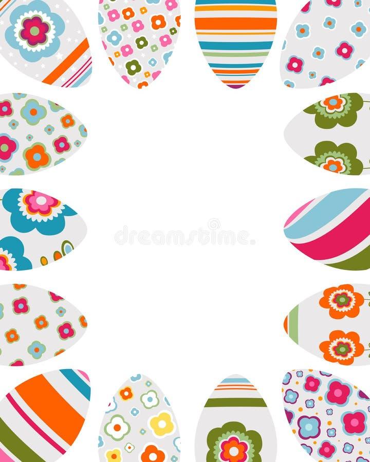 Frame colorido dos ovos de Easter ilustração do vetor