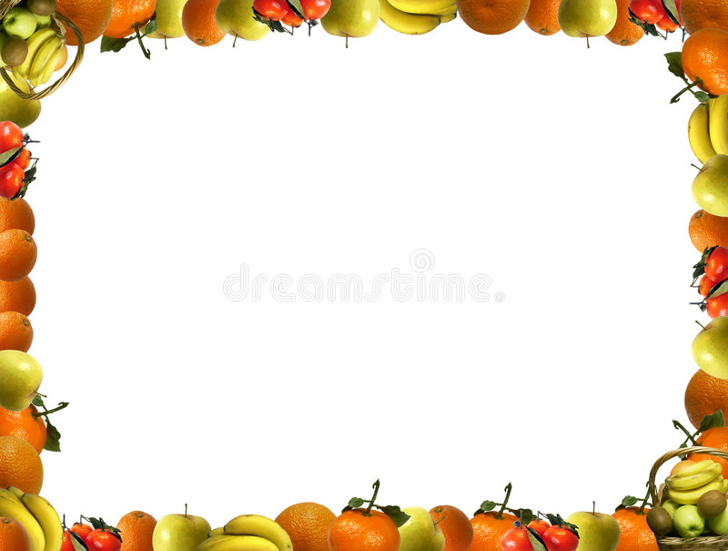 Frame that consists of fruit royalty free illustration