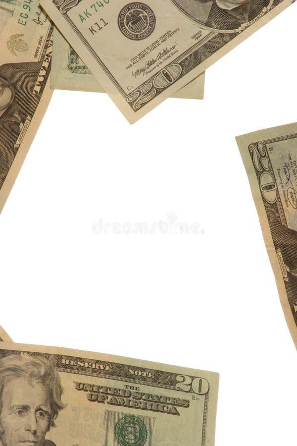 Frame in contant geld stock afbeelding