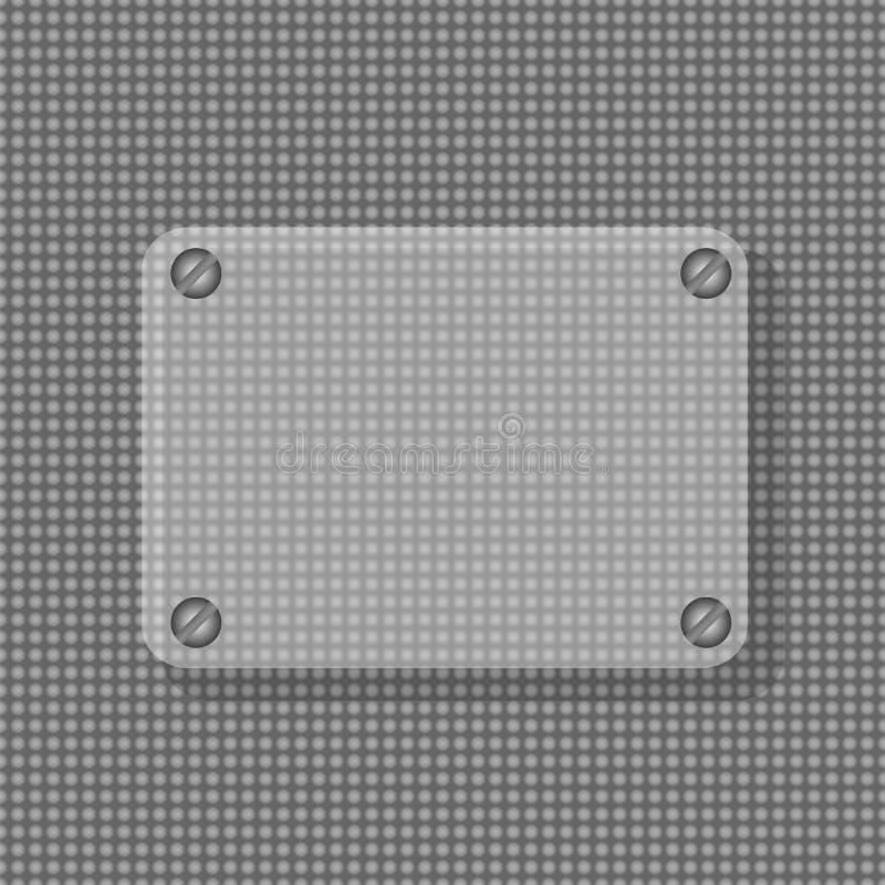 Frame convexo de vidro transparente com metal ilustração royalty free