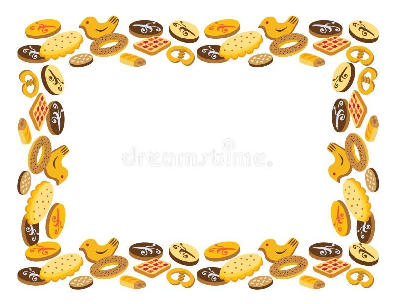 Frame of cookies stock photos