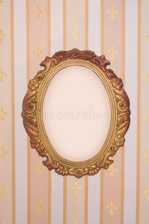Frame with copy-space on vintage wallpaper