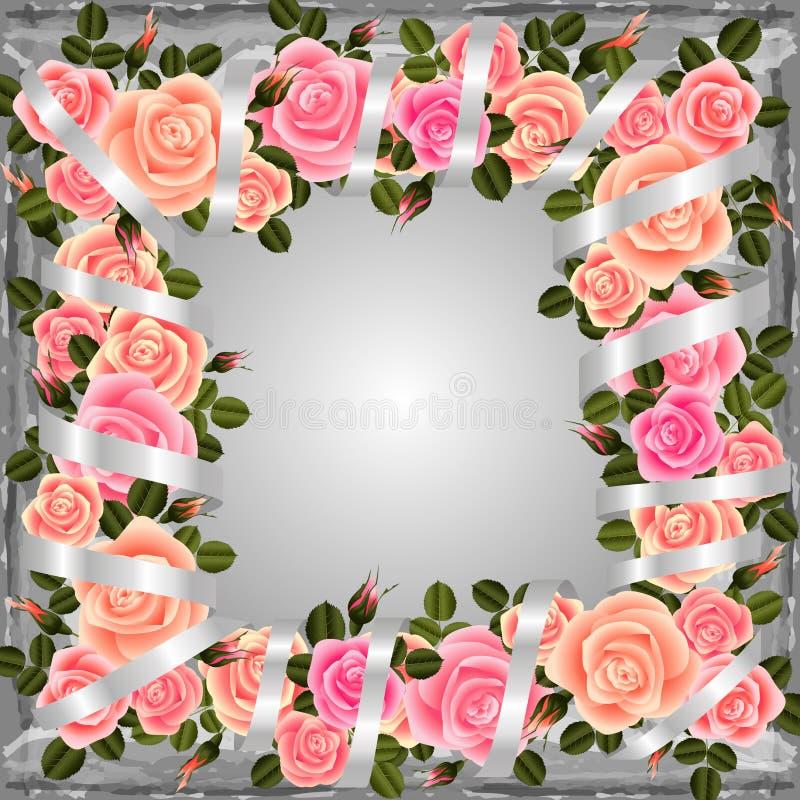 frame cor-de-rosa ilustração do vetor