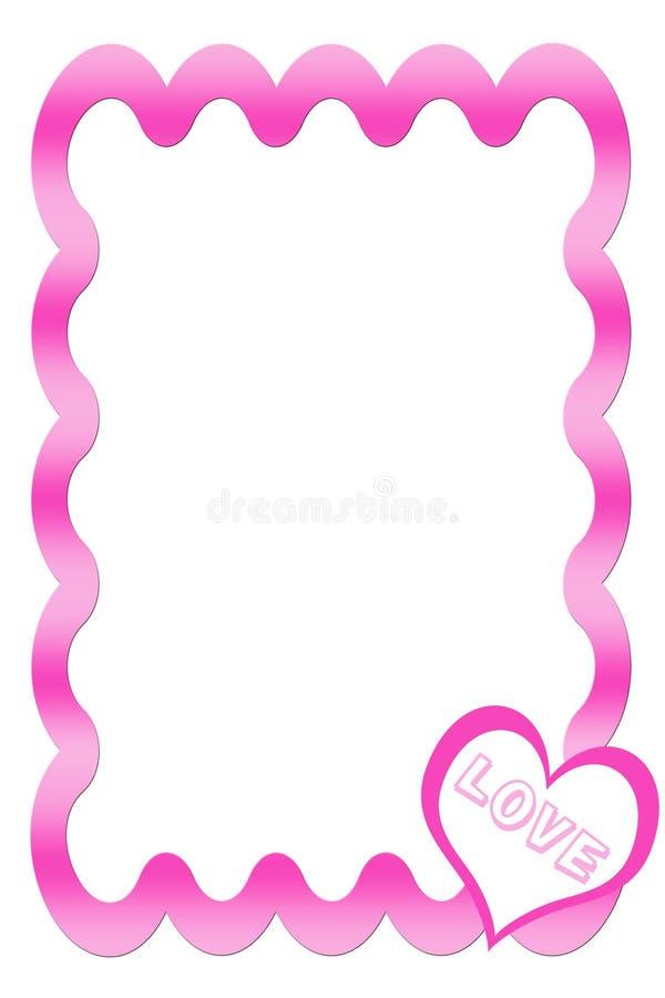Download Frame Cor-de-rosa Com Coração Ilustração Stock - Ilustração de quadro, amor: 534357