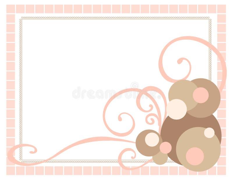 Frame cor-de-rosa com redemoinhos ilustração royalty free