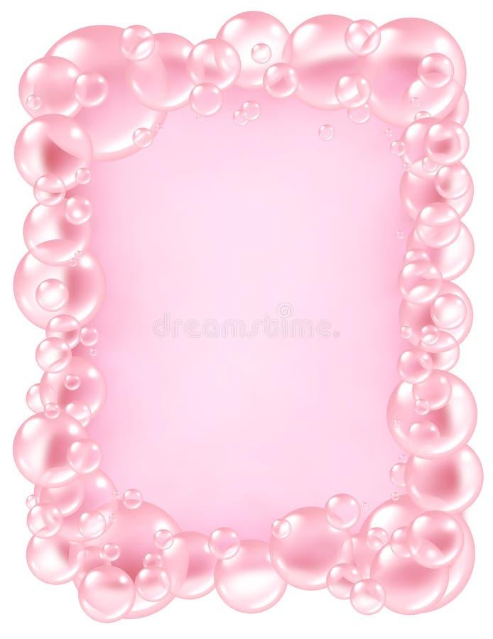 Frame cor-de-rosa das bolhas ilustração do vetor