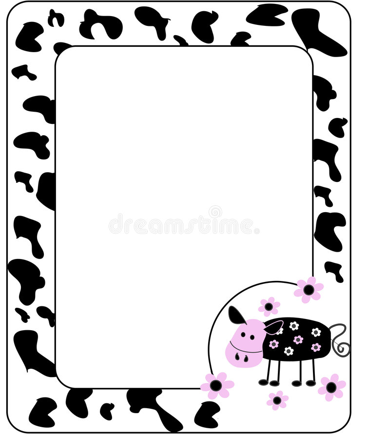 Download The frame is in cow style. stock vector. Illustration of elegance - 8599504