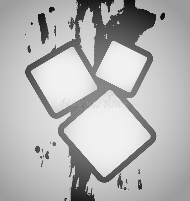 Frame creativo da arte ilustração stock