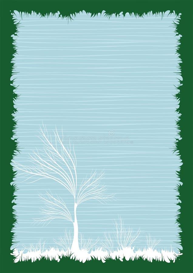 Frame creativo isolado   ilustração stock