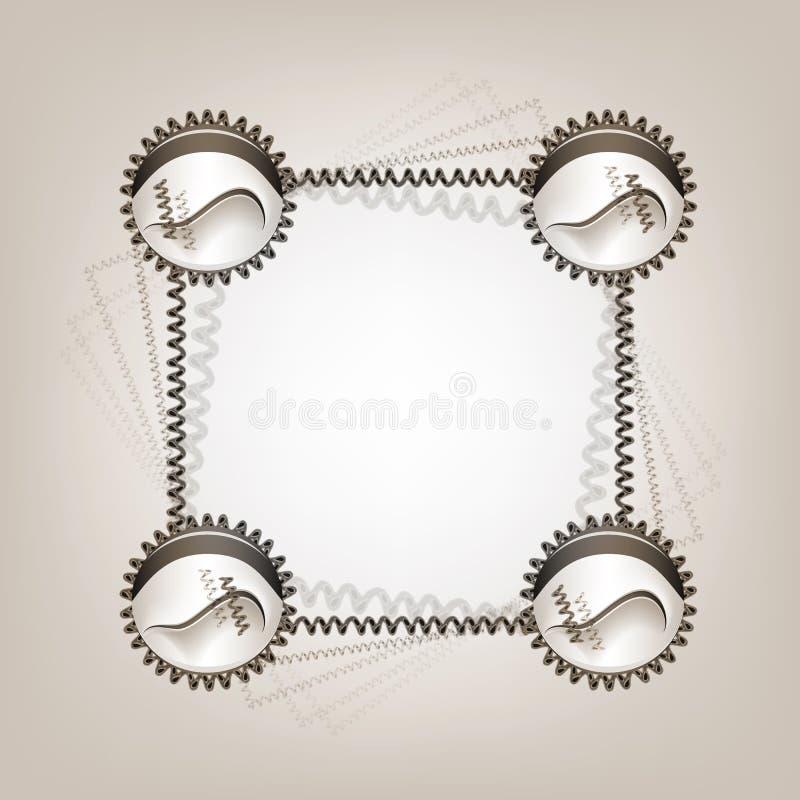 Frame creativo Quadro no estilo geométrico minimalistic na moda Quadro no estilo do grunge para o projeto criativo ilustração do vetor