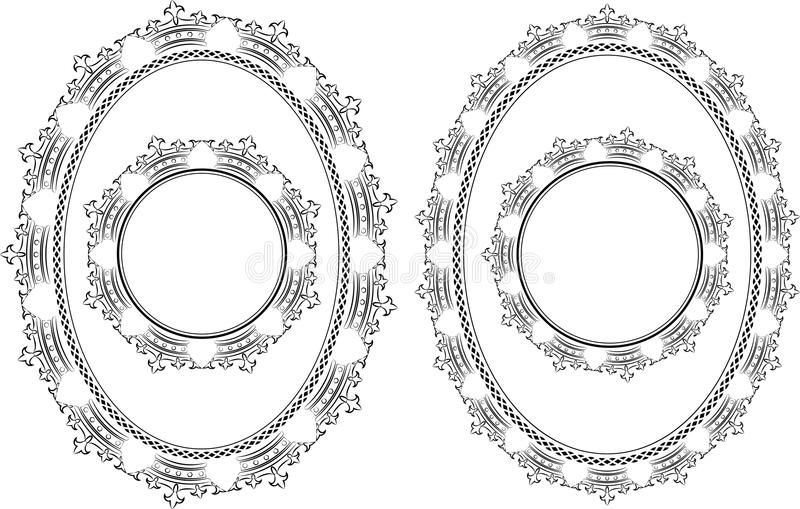 Frame Crowns Royalty Free Stock Photography