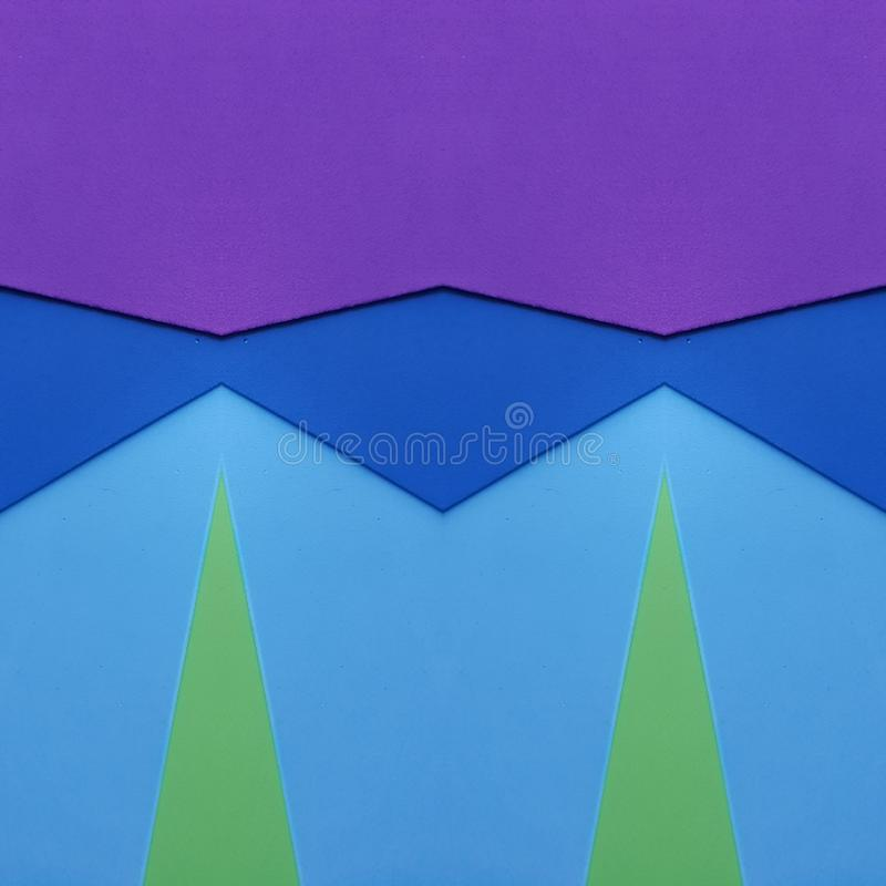 Frame With Cutouts Of Foamy In Colors Purpke, Blue And Green ...