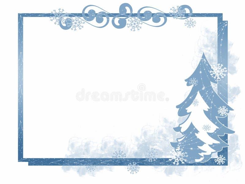 Frame da árvore do inverno ilustração stock