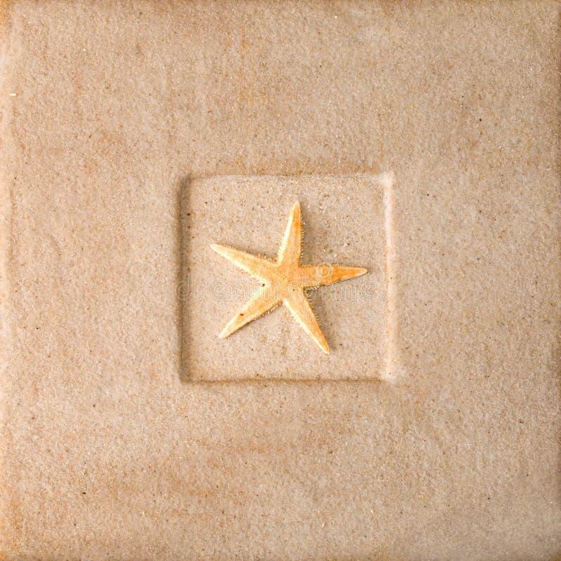 Frame da areia imagem de stock