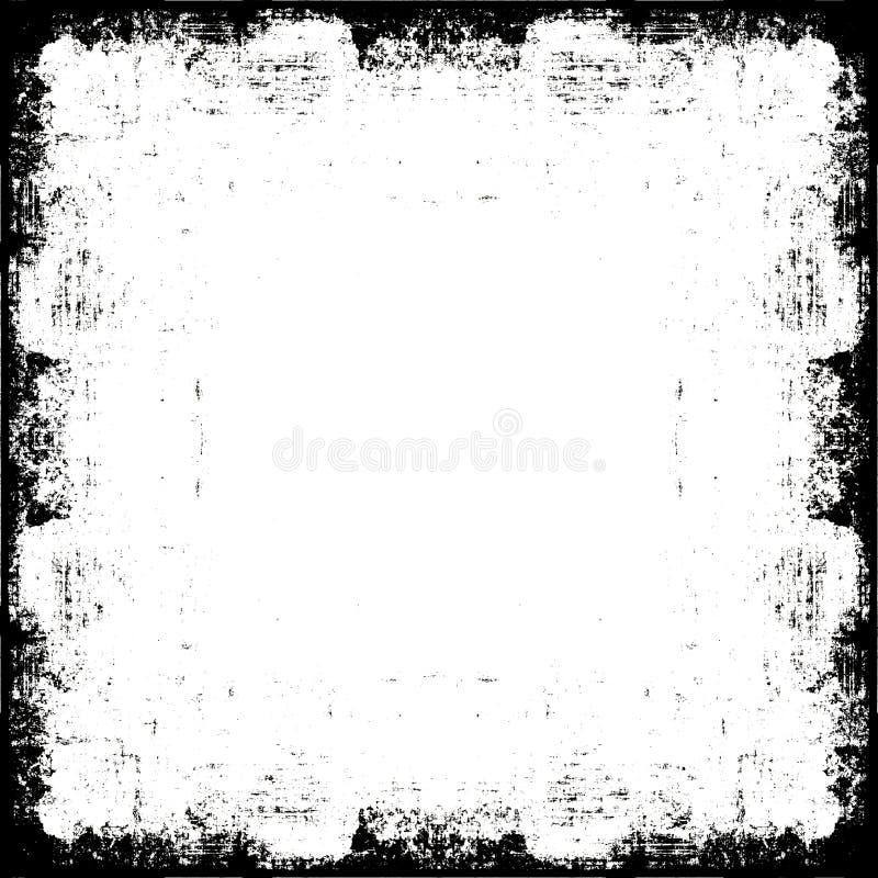 Frame da beira de Grunge ilustração do vetor