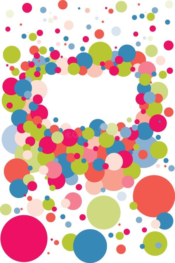 Frame da bolha do Confetti ilustração do vetor