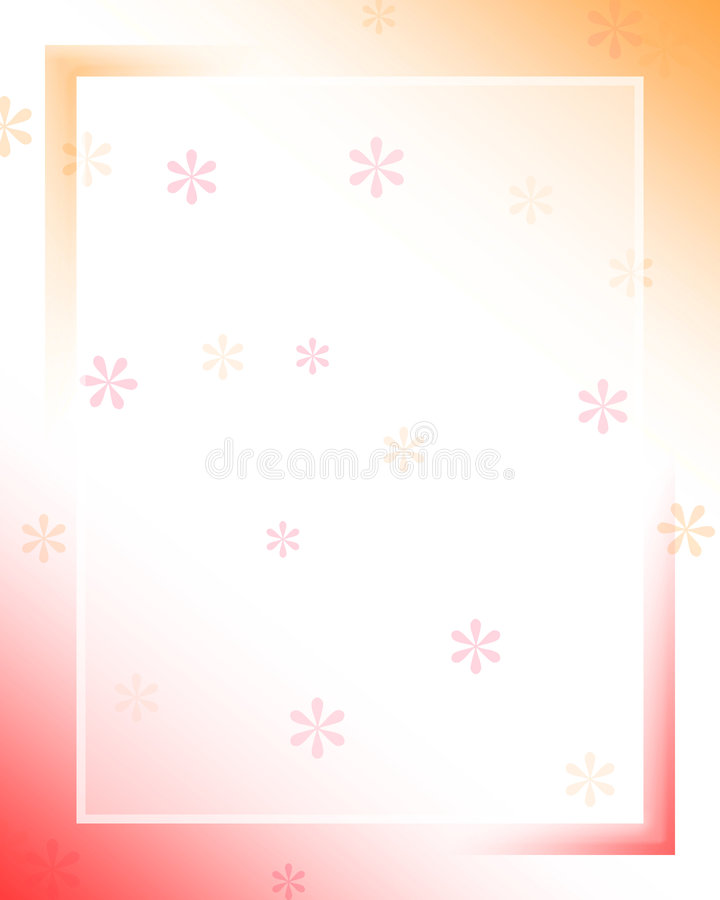 Frame da cor ilustração stock
