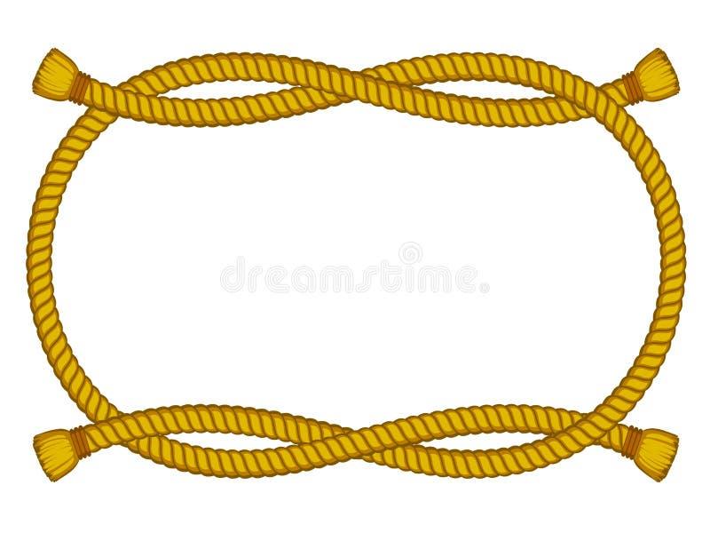 Frame da corda isolado no branco ilustração stock
