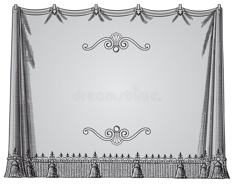 Frame da cortina ilustração do vetor