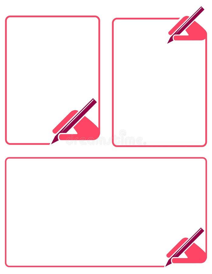 Frame da escrita ilustração do vetor