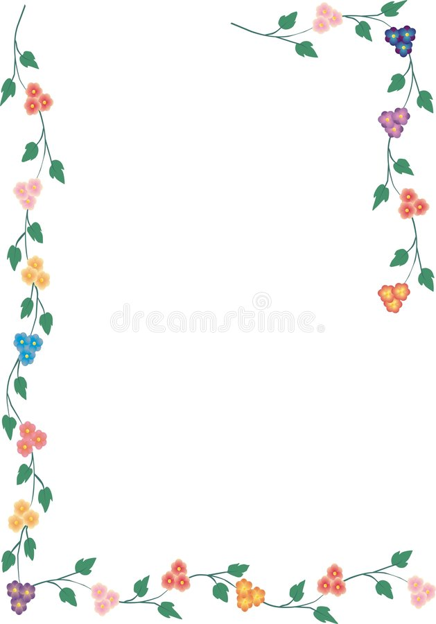 Frame da flor ilustração do vetor