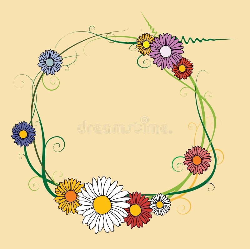 Frame da flor ilustração royalty free