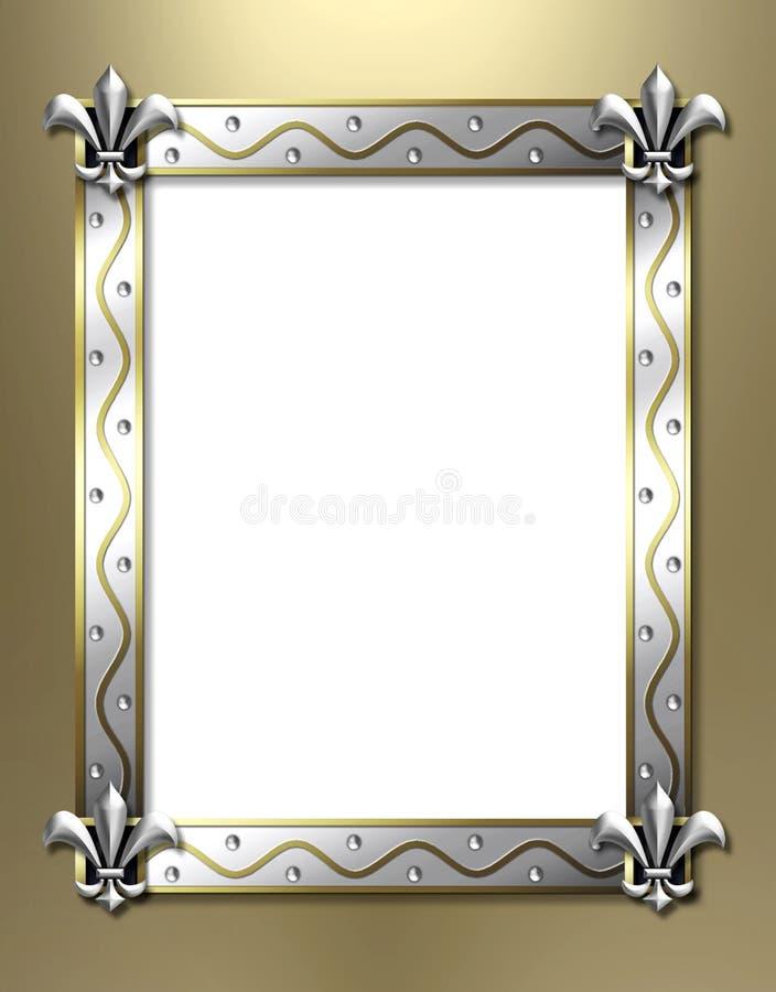 Frame da flor de lis ilustração stock