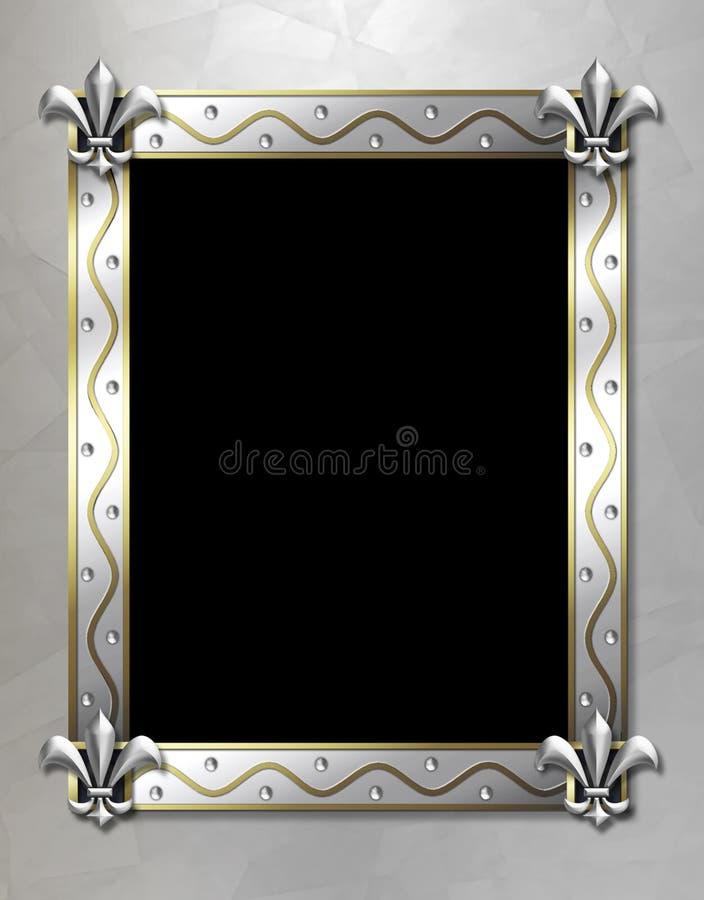 Frame da flor de lis ilustração royalty free