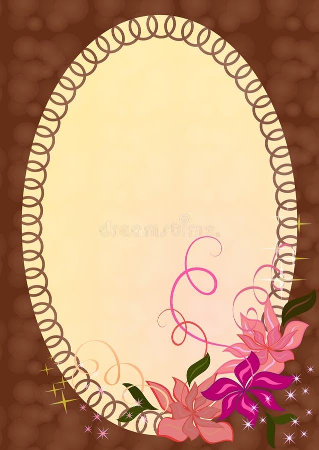 Frame da foto com ornamento. ilustração stock