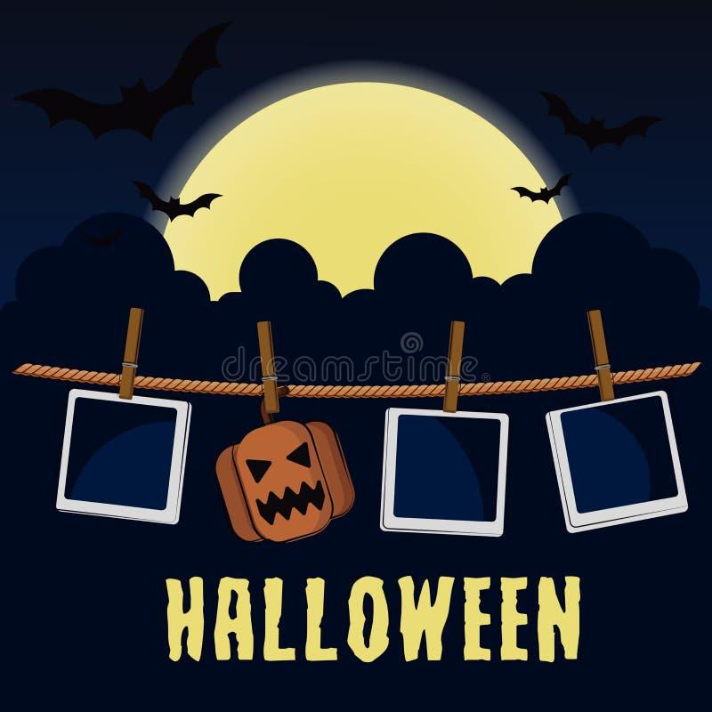 Frame da foto de Halloween ilustração stock