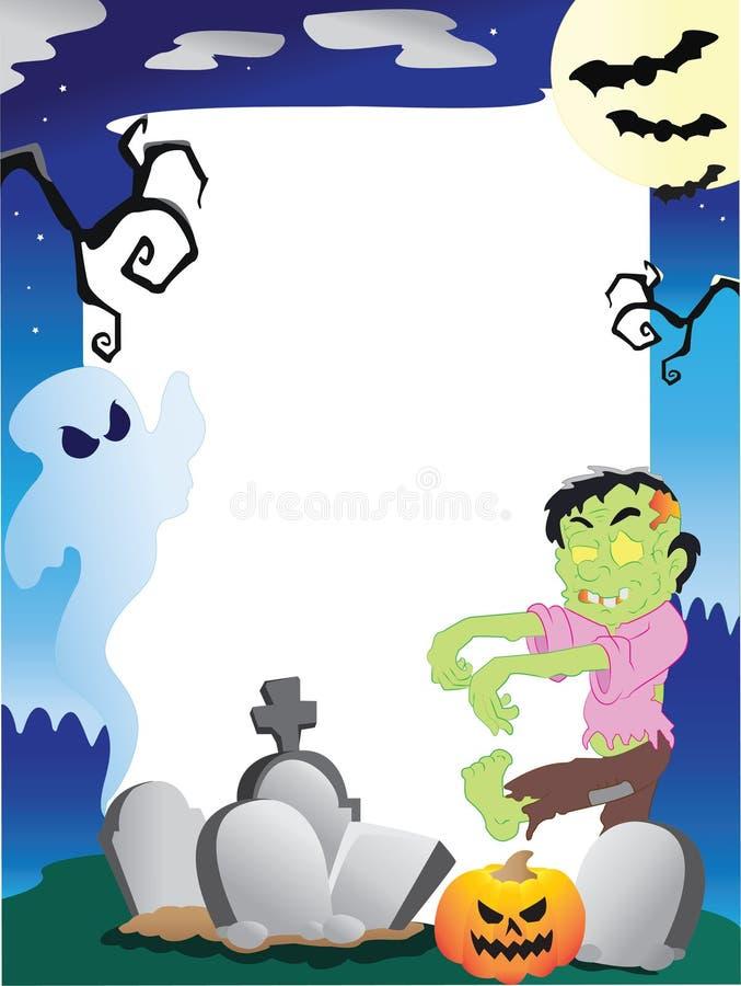 Frame da foto de Halloween ilustração royalty free