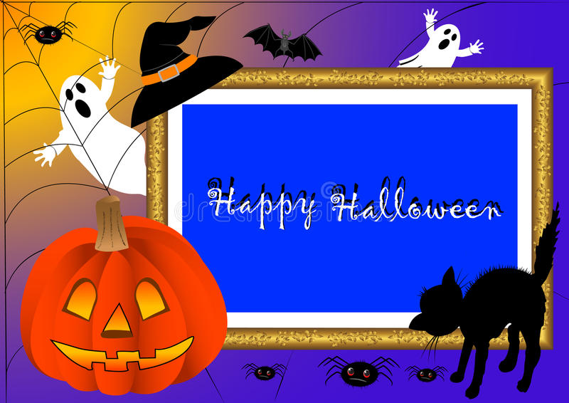 Frame da foto de Halloween. vetor. ilustração royalty free