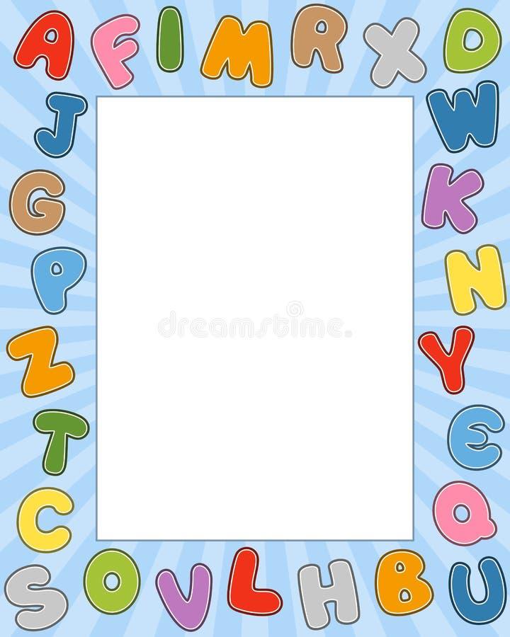 Frame da foto do alfabeto dos desenhos animados ilustração stock