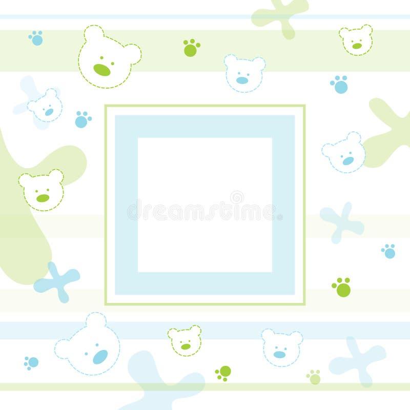 Frame da foto do bebê ilustração do vetor