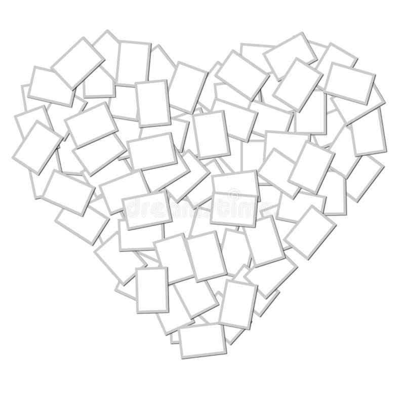Frame da foto do coração ilustração do vetor