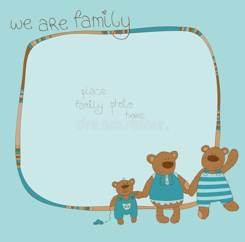 Frame da foto do urso da família ilustração stock