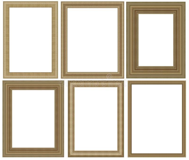 Frame da foto isolado no fundo branco ilustração stock