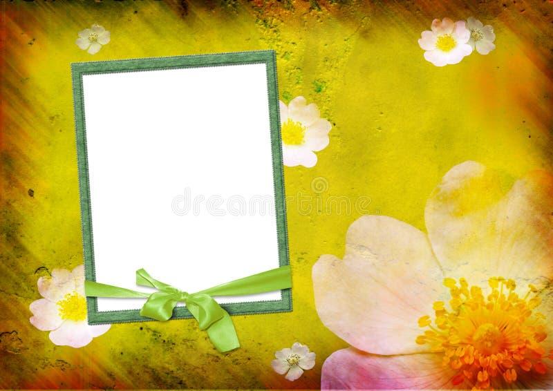 Frame da foto no fundo amarelo ilustração stock