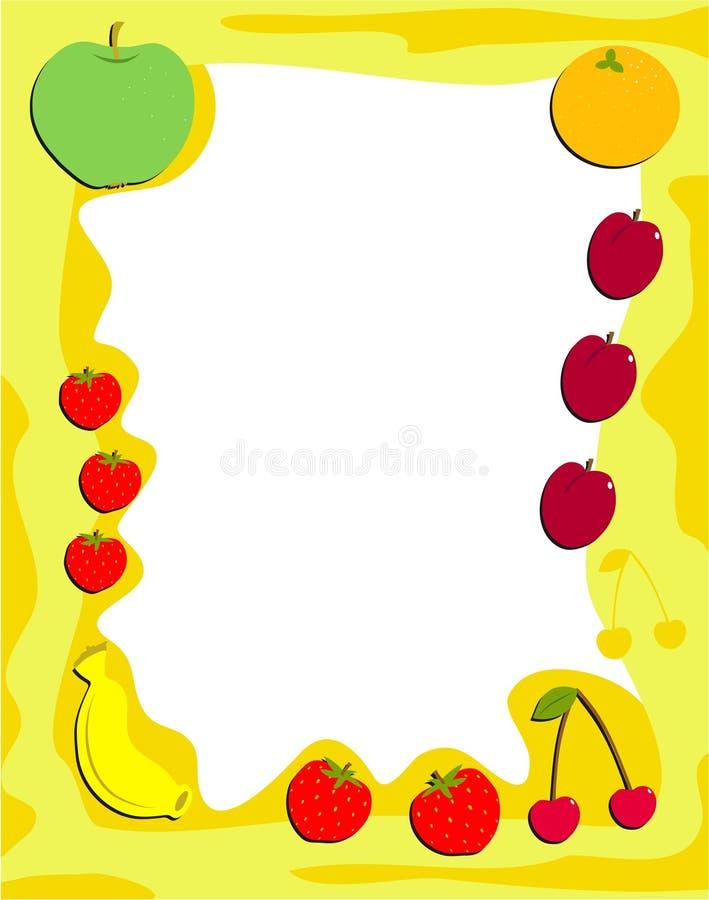 Frame da fruta ilustração royalty free