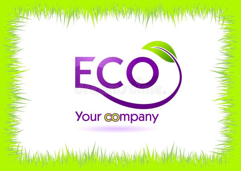 Frame da grama de Eco isolado no branco ilustração stock