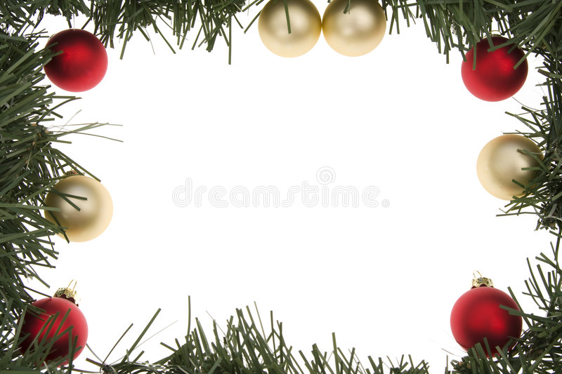 Frame da grinalda do Natal foto de stock royalty free